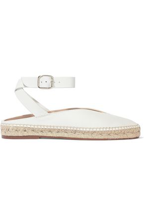 STUART WEITZMAN Leather espadrille slippers