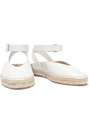 STUART WEITZMAN Leather espadrille slippers