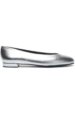 STUART WEITZMAN Metallic leather ballet flats