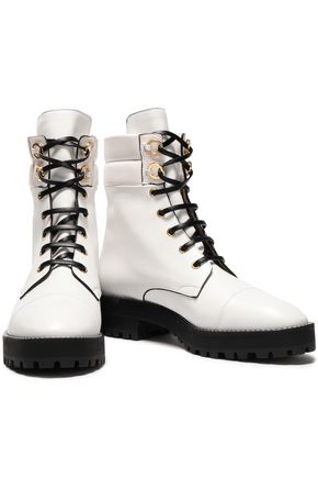 STUART WEITZMAN Embellished leather ankle boots