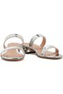 STUART WEITZMAN Mirrored-leather mules