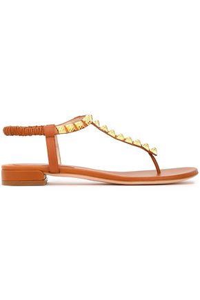 STUART WEITZMAN Floral-appliquéd suede sandals