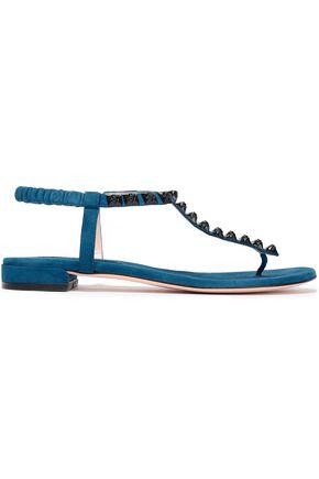 STUART WEITZMAN Studded suede sandals