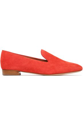 STUART WEITZMAN Embossed velvet slippers