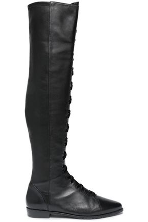 STUART WEITZMAN Lace -up leather over-the-knee boots