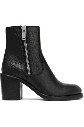 McQ Alexander McQueen Clapton pebbled-leather ankle boots