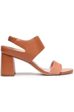STUART WEITZMAN Suede and leather sandals