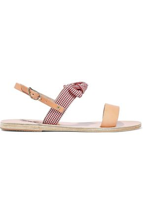 2593234d0bcc7 ANCIENT GREEK SANDALS Clio bow-embellished gingham cotton and leather  sandals ...