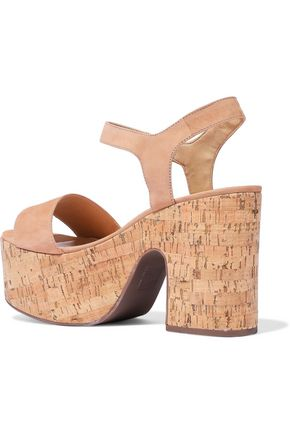 SCHUTZ Glorya nubuck platform sandals