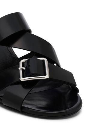 JIL SANDER Buckled leather mules