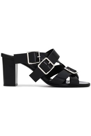 JIL SANDER Buckled leather mules