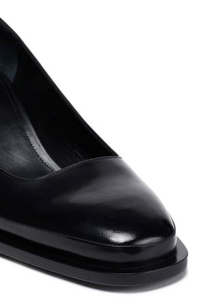 JIL SANDER Glossed-leather pumps