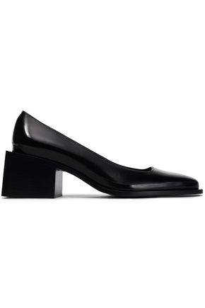 JIL SANDER Glossed-leather pumps