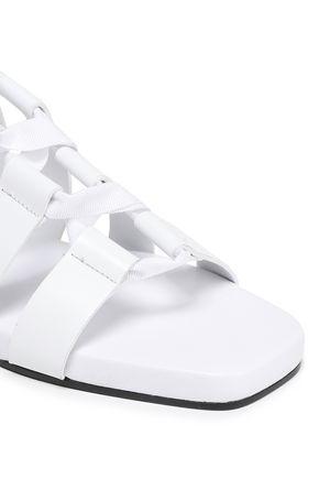 JIL SANDER Lace-up leather sandals