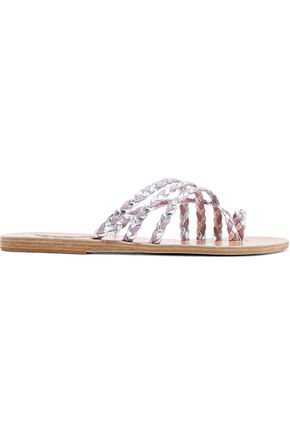 ANCIENT GREEK SANDALS Amalia braided metallic leather sandals