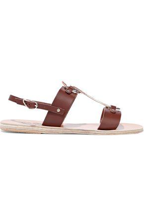 ANCIENT GREEK SANDALS Kriti ring-embellished leather slingback sandals