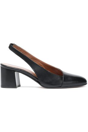 ATP ATELIER Leather slingback pumps