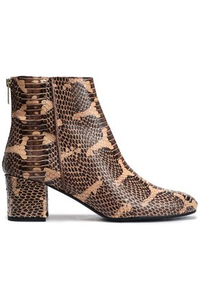 ATP ATELIER Snakeskin ankle boots
