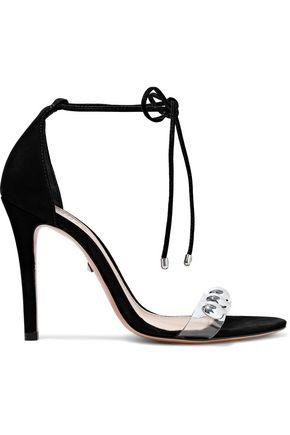 SCHUTZ Ramon studded PVC-trimmed nubuck sandals
