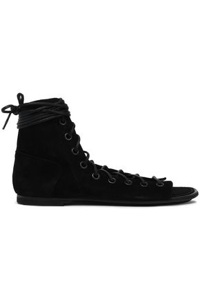 ANN DEMEULEMEESTER Lace-up suede sandals