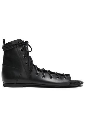 ANN DEMEULEMEESTER Lace-up leather sandals