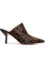 DIANE VON FURSTENBERG Leopard-print calf hair mules