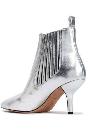 DIANE VON FURSTENBERG Metallic leather ankle boots