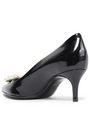 LANVIN Faux pearl-embellished patent-leather pumps