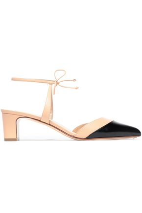 FRANCESCO RUSSO Two-tone leather pumps