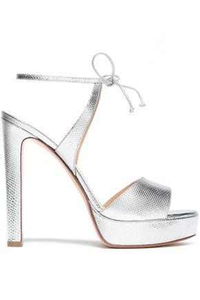 FRANCESCO RUSSO Metallic ayers platform sandals