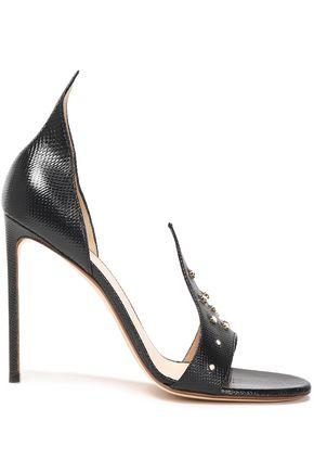 FRANCESCO RUSSO Crystal-embellished karung sandals