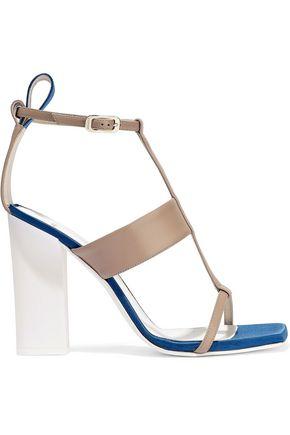 LANVIN Satin-trimmed leather sandals