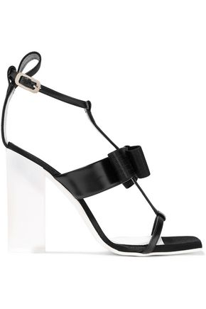 LANVIN Bow-embellished leather sandals