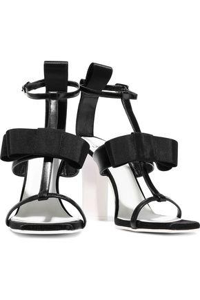 LANVIN Bow-embellished leather sandals