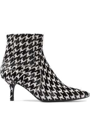 ANINE BING Houndstooth calf hair ankle boots