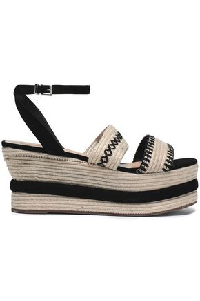 SCHUTZ Braided jute wedge sandals