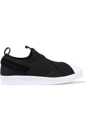 ADIDAS ORIGINALS Suede-trimmed neoprene sneakers