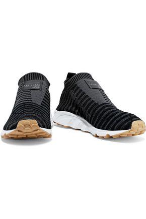 ADIDAS ORIGINALS EQT Support striped Primeknit sneakers