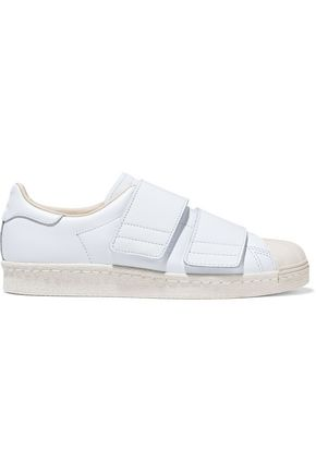 ADIDAS ORIGINALS Superstar 80s CF rubbed-trimmed leather sneakers