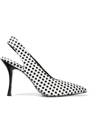 ALICE + OLIVIA Innet polka-dot calf hair slingback pumps