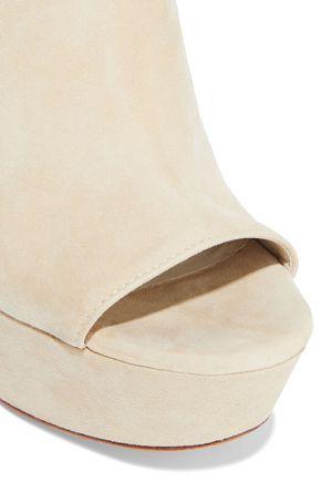 ALICE + OLIVIA Logan suede platform slingback sandals