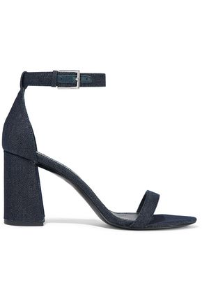ALICE + OLIVIA Lillian metallic denim sandals