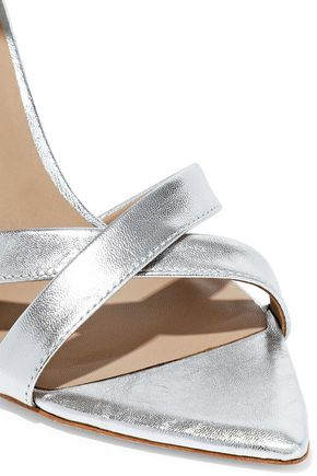 HALSTON HERITAGE Lillian metallic textured-leather sandals