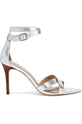 HALSTON HERITAGE Lillian metallic textured-leather sandals