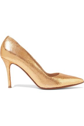 HALSTON HERITAGE Lizard-effect leather pumps