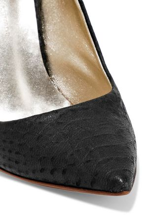 HALSTON HERITAGE Amy python-effect leather pumps