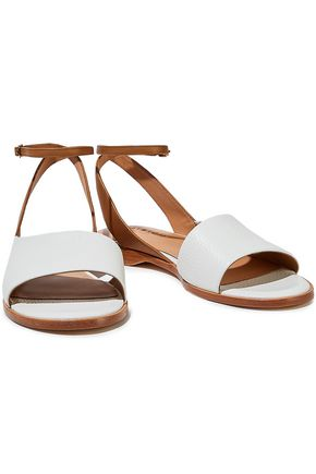 HALSTON HERITAGE Meg metallic textured-leather sandals