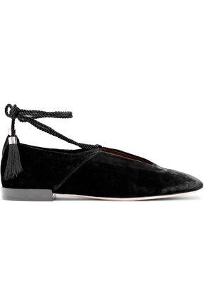 ROSETTA GETTY Lace-up velvet slippers