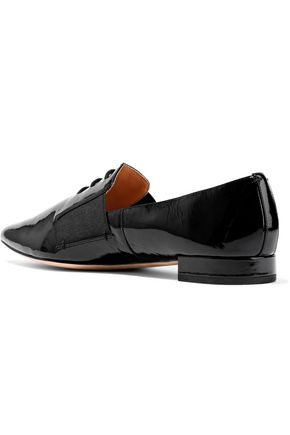 HALSTON HERITAGE Francis patent-leather point-toe flats