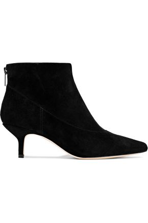 HALSTON HERITAGE Tiana faux patent-leather ankle boots